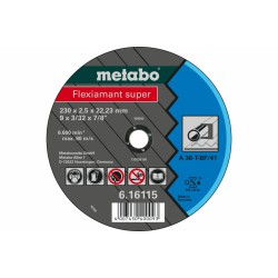 METABO 616107000 CUTTING DISCS STEEL-FLEXIAMANT SUPER 125X2.0X22.23