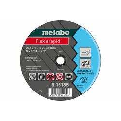 METABO 61618600 CUTTING DISCS STEEL/STAINLESS 115X1.0X22.23