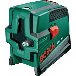 BOSCH PCL20 - 20m Vertical/horiz/cross/diagonal, laser level + tripod